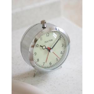 時計 アラームクロック クオーツ (クローム) [100-053Q] ■ 目覚まし おしゃれ アメリカン雑貨 (ダルトン/DULTON) t-bravo