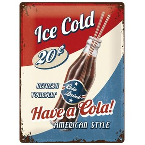 13020 ティンサイン40×30cm アイスコールド/コカコーラ コーク TIN SIGN ICE COLD 看板 ディスプレイ インテリア ガレージ|t-bravo