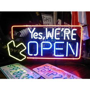 NEON SIGN YES,WE ARE OPENネオンサインオープン|t-bravo