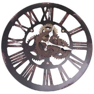 時計 ウォールクロック ファクトリー [1J-046] ■ 壁掛け スチームパンク 歯車 おしゃれ アメリカン雑貨|t-bravo