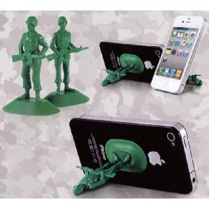 iソルジャーフォンスタンド2Pセット [40205] ■ 携帯スマートフォン 兵隊 緑 雑貨 電話立て 携帯ホルダー 動画 動画観賞 アメリカン雑貨|t-bravo