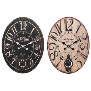 時計 ペンデュラムウォールクロック オーバル43×58cm [1J-061] ■ 壁掛け 掛け 壁掛 北欧 おしゃれ インテリア雑貨 デザイン ギフト アメリカン雑貨|t-bravo