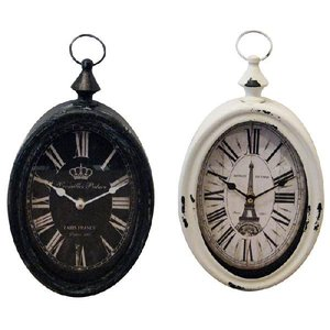 1J-063 スチールリムクロック バーティカル VERTICAL/掛け時計 アメリカン雑貨|t-bravo