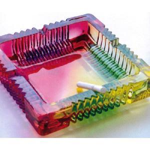 レインボーガラスアッシュトレイ/灰皿虹色カラフルアシュトレイインテリア|t-bravo