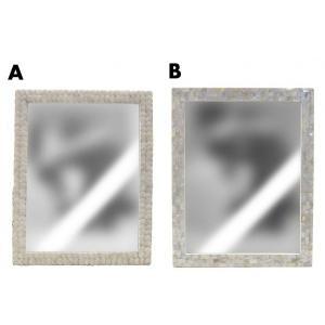 シェルフレームミラーLサイズ/鏡シェル貝貝殻インテリア雑貨|t-bravo