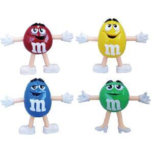 m&m's ベンダブルフィギュア4Pセット/フィギュアミニチュアカラフルセットチョコお菓子チョコレート|t-bravo