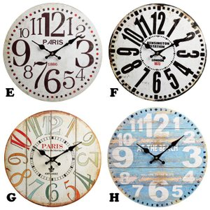 時計 ウォールクロック 34cm [1J-059] ■ 壁掛け 掛け 壁掛 北欧 おしゃれ インテリア雑貨 デザイン ギフト アメリカン雑貨|t-bravo