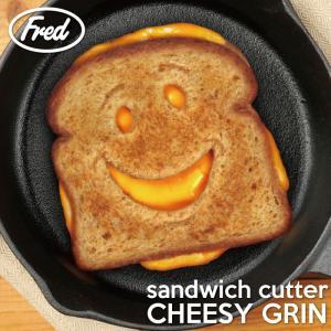 45702 サンドイッチカッター チーズグリン/スマイルトーストパンブレッドカッター型面白おもしろ|t-bravo