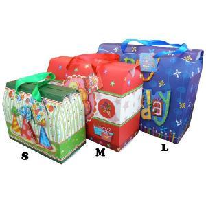 ハッピーバースデー ギフトボックス(S)/プレゼント紙袋箱パーティ誕生日通販ボックス贈り物ラッピング|t-bravo
