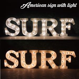 アメリカンサイン・ウィズライト(SURF)/サーフバーアメリカン雑貨アメリカ雑貨雑誌看板ライト照明americansignwithlight t-bravo