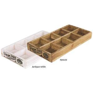 8パーテーションウッデンボックス [CH11-H418] ■ 木製 小物入れ 収納ボックス ケース アンティーク アメリカン雑貨 (ダルトン/DULTON)|t-bravo