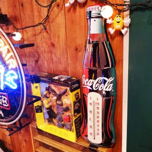 Coca-Cola コカコーラ ティンサーモメーター/温度計インテリア壁室内室外ビン瓶レトロブリキ|t-bravo