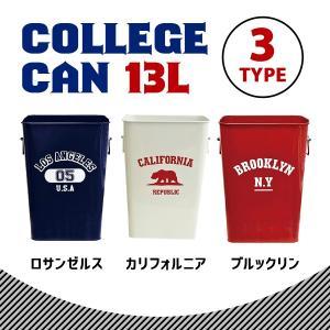 ゴミ箱カレッジカン ■ インテリア こみ箱 ダストボックス カレッジtシャツ アメリカン雑貨|t-bravo