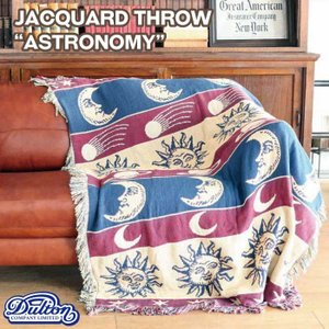 "DULTON ダルトン ジャガードスロー""アストロノミー""A659-600AS/Jacqurd throwASTRONOMYアンティーク絨毯マットラグ織物|t-bravo"