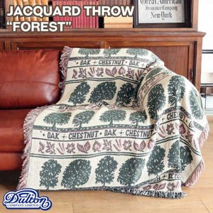 "DULTON ダルトン ジャガードスロー""フォレスト""A659-600FR/Jacqurd throwFORESTアンティーク絨毯マットラグ織物|t-bravo"