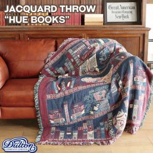 "DULTON ダルトン ジャガードスロー""ヒューブックス""A659-600HB/Jacqurd throwHUE BOOKSアンティーク絨毯マットラグ織物|t-bravo"