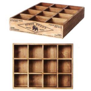 12パーテーション ウッデンボックス [CH14-H520NT] ■ 木製 小物入れ 収納ボックス ケース アンティーク アメリカン雑貨 (ダルトン/DULTON)|t-bravo
