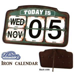 アイアンカレンダー [S455-179] ■ インテリア カレンダー 日めくり 日付 アンティーク 店頭 アメリカン雑貨 送料無料 (ダルトン/DULTON)|t-bravo