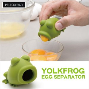 91474 ヨークフロッグエッグセパレーター/調理器具製菓用品黄身面白おもしろカエル蛙|t-bravo