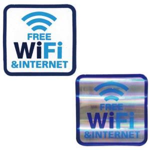 フリーWiFiステッカー / Wi-Fi ワイファイ アメリカン雑貨|t-bravo