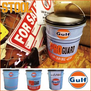 椅子ガルフ オイル缶スツール ■ オイルカン Gulf ガレージ アメリカン雑貨 送料無料|t-bravo