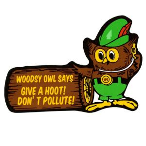 レーシングステッカー ウッディーオウル ms092/ メール便可 /シール ロゴ キャラクター Woodsy owl フクロウ カスタム|t-bravo