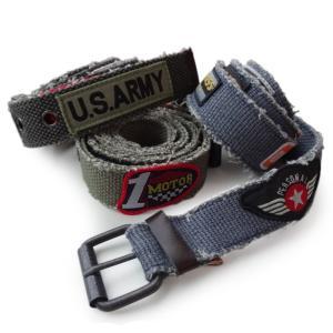 アメリカンパッチベルト ■ メンズ ワッペン 古着 アメリカン雑貨|t-bravo