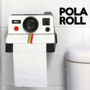 ポラロール/トイレペーパーホルダーポラロイドカメラ おもしろ雑貨面白|t-bravo