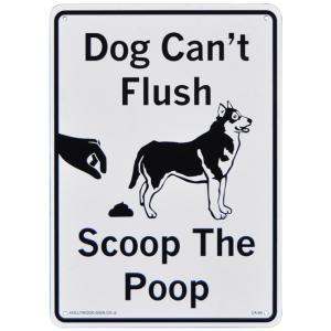 プラスティック サインボード CA-64 犬は水を流せません 糞の後始末をしましょう / 看板 サインプレート 世田谷ベース|t-bravo