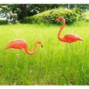 ピンクフラミンゴ ■ ガーデニング 庭 飾り 芝生 アメリカン雑貨|t-bravo