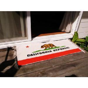 カリフォルニアリパブリック コットンマット(フロアマット)/California republic 熊リビングインテリア床|t-bravo