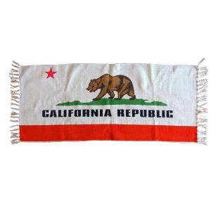 カリフォルニアリパブリック コットンマット(キッチンマット)/California republic リビングインテリア床|t-bravo