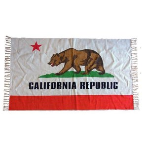カリフォルニアリパブリック コットンマット(ラグマット)/California republic 熊クマ星リビングインテリア|t-bravo