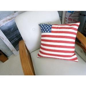 USAクッション / 星条旗 アメリカ国旗 usaフラッグ 40×40 アメリカン雑貨|t-bravo