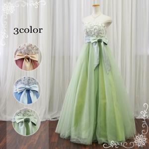 ウエディングドレス グリーン カラードレス 人気 マタニティドレス 2次会 エンパイア 13025mg|t-bright