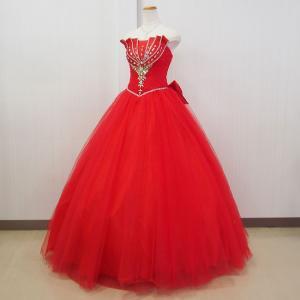 カラードレス ロングドレスレッド 赤 個性的 ステージ衣装/9号・11号・即納/プリンセスライン  二次会 31083r|t-bright