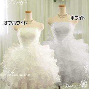 ウェディングドレス ミニ 二次会 人気 ウエディングドレス 安い オフホワイト 結婚式 ショート丈 ウエディングドレス 54317|t-bright