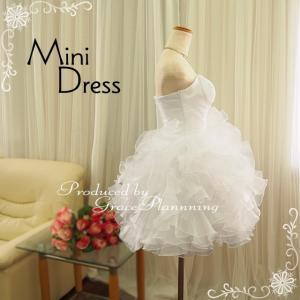 ウェディングドレス ミニ 二次会 人気 ウエディングドレス 安い オフホワイト 結婚式 ショート丈 ウエディングドレス 54317|t-bright|04