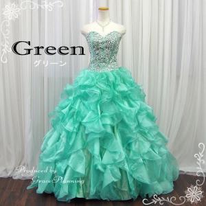 カラードレス ミントグリーン 演奏会 ロング ステージ衣装 カラオケ大会 大きいサイズ f13030gr|t-bright