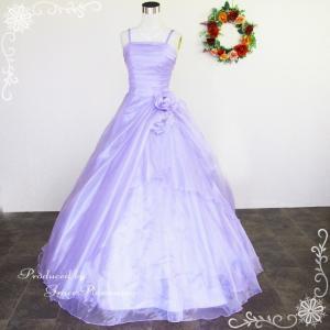 カラードレス ラベンダー 紫 演奏会 ロングドレス 紫 5号 7号 9号 11号 13号 ウェディング g2323lv|t-bright