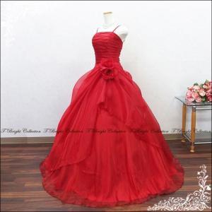 今だけ小物プレゼント カラードレス ロングドレス 演奏会 7号・9号・11号・13号・15号 深紅 ワインレッド ウエディング 二次会 花嫁 結婚式 舞台衣装/g2323wr|t-bright