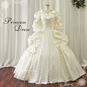 中世 貴族風 お姫様 ドレス 舞台 ステージ 衣装 女性 ウエディングドレス 袖付き プリンセスライン 演劇 結婚式 披露宴 安いg2785ow|t-bright