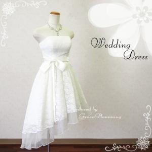 サイズオーダー ウエディングドレス ミニドレス ウェディング ブライダル 結婚式 二次会 披露宴 パーティ オフホワイト 小さいサイズ 大きいサイズ/od-F12442a t-bright