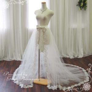 オーダー/巻きスカート ウエディングドレス ロングドレス アレンジ 9号 11号 13号 オフホワイト ウェディング 結婚式 二次会 イベント/od-SKT13387 t-bright