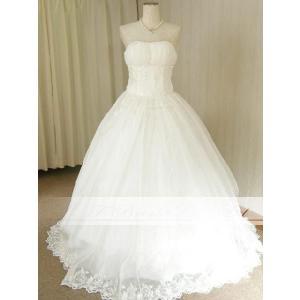 ウェディングドレス ロングトレーン プリンセスライン サイズオーダードレス od51793|t-bright