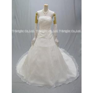 ウエディングドレス ウェディングドレス Aライン ロングトレーン シンプル 小さいサイズ 大きいサイズ 5号〜25号 二次会 花嫁 結婚式/od51822|t-bright