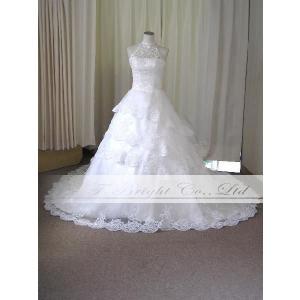 サイズオーダー/ウエディングドレス ウェディングドレス ロングトレーン 綺麗 結婚式 披露宴 ホワイト 5号〜25号/od52340|t-bright