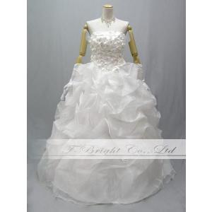 オーダー ウエディングドレス ウェディングドレス 花嫁 結婚式 二次会 プリンセスライン 小花 5・7・9・11・13・15・17・19・21・23・25号/od53551 t-bright