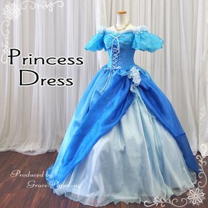 即納/カラードレス 中世貴族ドレス シンデレラ風ドレス 水色 11号・13号 オペラ 声楽 舞台衣装 ロングドレス プリンセスライン コスプレ 安い/pd28008wb|t-bright