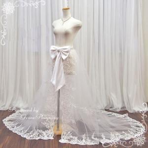 巻きスカート ウエディングドレス ロングドレス アレンジ  9号 11号 13号 オフホワイト ウェディング 結婚式 二次会 イベント/SKT13387/国内検品・即日発送|t-bright